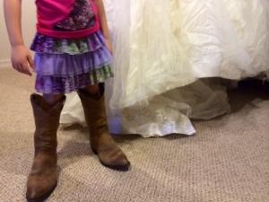 Next to my wrinkly (ahem, wedding) dress.
